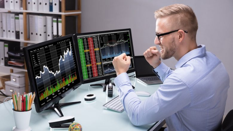 Excited Stock Market Trader
